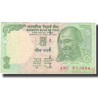 Billet, Inde, 5 Rupees, Undated (2010), KM:88Ab, SUP - Inde