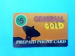ORIGINAL GOLD - $5 ( Usa Prepaid Phone Card ) Calling Card Prépayée Carte Carta Prepagata Remote GSM - Autres
