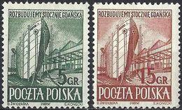 Poland 1952 - Mi 775/76 - YT 680/81 ( Gdansk Shipyard ) MNG / MNH** - 1944-.... République