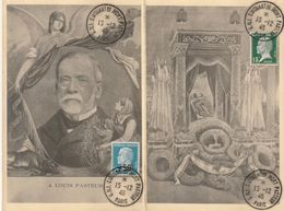 Carte Maximum -   Carte Double - Centenaire De La Mort De Louis Pasteur - France