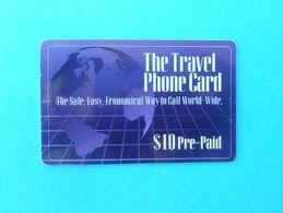 THE TRAVEL PHONE CARD - $10 ( Usa Prepaid Phone Card ) Calling Card Prépayée Carte Carta Prepagata Remote GSM - Autres