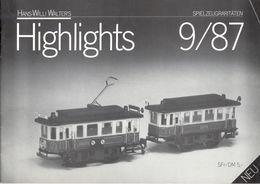 Catalogue WILLI WALTER'S HANS 1987/9 Highlights Neuheiten - Libros Y Revistas