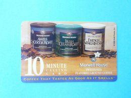 FRONTIER Maxwell House Coffee - 10.min  (Usa Prepaid Phone Card) Calling Card Prépayée Carte Carta Prepagata Remote GSM - Autres
