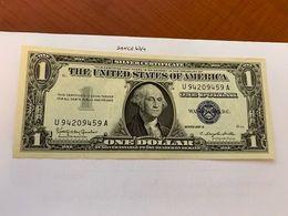 United States Washington Circulated Blue Banknote 1957 B #58 - Nationale Valuta