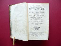 D. Iustiniani Institutionum Sive Elementorum Libri Quattuor Trattner Vienna 1760 - Livres, BD, Revues