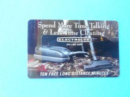 ELECTROLUX - Calling Card (Usa Prepaid Phone Card) Calling Card Prépayée Carte Carta Prepagata Remote GSM - Autres