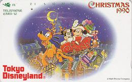 JAPAN - TC JAPON / 110-98303 - DISNEY - NOEL 1990 - Mickey Minnie Traineau - CHRISTMAS Phonecard Telefonkarte - Disney