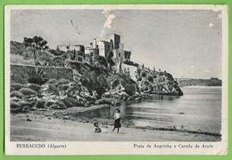 Ferragudo - Praia Da Angrinha E Castelo Do Arade. Faro (postal Danificado) - Faro
