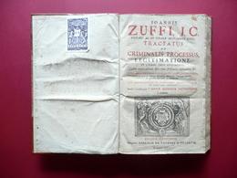 I. Zuffi Tractatus De Criminalis Processus Sacra Rota 1722 Finale Emilia Eresia - Livres, BD, Revues