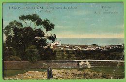 Lagos - Uma Vista Da Cidade E Da Baía. Faro (canto Danificado) - Faro