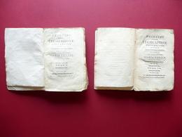Principi Della Legislazione Universale Frediani Massa 1787 2 Tomi Completo Raro - Livres, BD, Revues