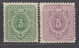 DEUTSCHES REICH 1879 - MiNr: 39+40  */MH - Germany