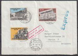 Vatikan 1961 FDC Mi-Nr.375 - 377 Brief EXPRESS Vatikanstadt Nach Zürich( D 2818 )günstige Versandkosten - Vatican