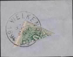 Belgie  .    OBP   .    Taxe  1 ½   Op Briefstukje        .      O   .       Gebruikt  .   /    .    Oblitéré - Timbres