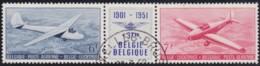 Belgie  .    OBP   .    LP 26/27  Drieluik  .      O   .       Gebruikt  .   /    .    Oblitéré - Airmail