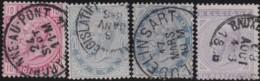 Belgie     .    OBP   .    38/41      .      O      .       Gebruikt  .   /    .    Oblitéré - 1883 Leopold II