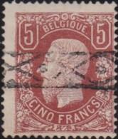 Belgie     .    OBP   .    37  Keur  (2 Scans)      .      O      .       Gebruikt  .   /    .    Oblitéré - 1869-1883 Léopold II