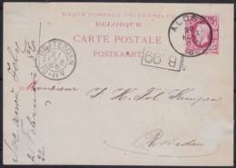 Belgie     .    OBP   .    Postkaart  (2 Scans)      .      O      .       Gebruikt  .   /    .    Oblitéré - 1869-1883 Léopold II