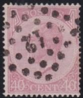 Belgie     .    OBP   .    20A    .      O      .       Gebruikt  .   /    .    Oblitéré - 1865-1866 Linksprofil