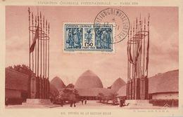 Carte Maximum -   Exposition Coloniale - Entrée De La Section Belge - Lettres & Documents