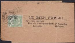 Belgie     .    OBP        .    83 Op  Adresstrook  (2 Scans)     .      O      .       Gebruikt  .   /    .    Oblitéré - 1894-1896 Exhibitions
