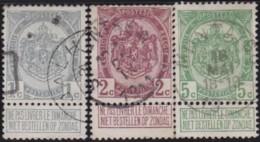 Belgie     .    OBP        .    81/83      .      O      .       Gebruikt  .   /    .    Oblitéré - 1894-1896 Exhibitions