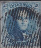 Belgie     .    OBP        .     4A   (2 Scans)      .      O      .       Gebruikt  .   /    .    Oblitéré - 1849-1850 Medallions (3/5)