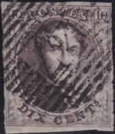 Belgie     .    OBP        .     3   (2 Scans)      .      O      .       Gebruikt  .   /    .    Oblitéré - 1849-1850 Medallions (3/5)