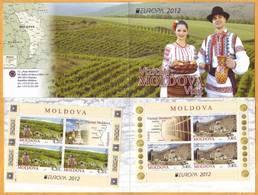 2012 Moldova Moldavie  Europa Cept  Booklet Visit Moldova. Tourism, Cricova, Kurki, Christianity, - 2012