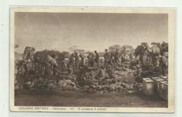 COLONIA ERITREA - CAROVANA ALT, SI PREPARA IL PRANZO 1935   VIAGGIATA  FP - Erythrée