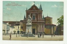 FAENZA - CHIESA DI S.FRANCESCO E MONUMENTO A E. TORRICELLI 1914 VIAGGIATA  FP - Ravenna