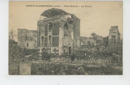 COUCY LE CHATEAU - HOTEL BELLEVUE - Les Ruines - France