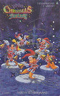 JAPAN - TC DOREE JAPON / 110-203455 - DISNEY DISNEYLAND  OR;& ARGENT - NOEL - CHRISTMAS FANTASY 1998 -  GOLD & SILVERpc - Disney