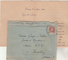 Lettre De PAMIERS Ariège 5/6/1943 à Volontaire Jeunesse Et Montagne Usine RIV Chambéry Savoie - Marcophilie (Lettres)