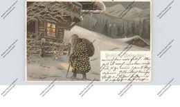 WEIHNACHTEN / NIKOLAUS / WEIHNACHTSMANN / SANTA, Prägekarte, Mailick, 1902 - Santa Claus