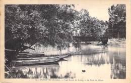 45 - DORDIVES : Les Bords Du Loing Et Le Pont De César - CPA Village (3.300 H)  Loiret Région Centre - Dordives