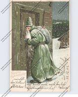 WEIHNACHTEN / NIKOLAUS / WEIHNACHTSMANN / SANTA, Grüner Mantel Mailick, 1902 - Santa Claus