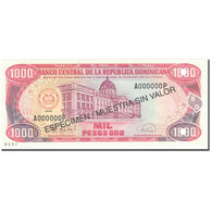 Billet, Dominican Republic, 1000 Pesos Oro, 1996, 1996, Specimen, KM:158s1, SPL - República Dominicana