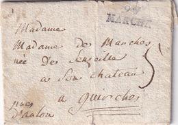 DDX 263 - Lettre Précurseur 97 MARCHE Vers Le Chateau De GUIRCHES , Près D' ARLON ( Auj. GUIRSCH ) - 1794-1814 (Période Française)
