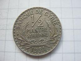Syria , 1/2 Piastre 1921 - Syrie