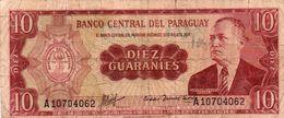 PARAGUAY 10 GUARANIES 1963 P-196a2 Circ - Paraguay