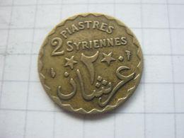 Syria , 2 Piastres 1924 - Syrie