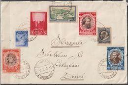Vatikan 1948 Mi-Nr.114,121,125,131,133-34,142 Brief Vatikanstadt Nach Zürich Schweiz( E 87 )günstige Versandkosten - Vatican