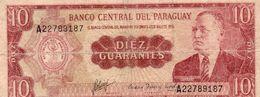 PARAGUAY 10 GUARANIES 1963 P-196b  Circ - Paraguay