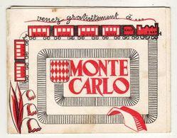 MONACO  MONTE CARLO Carte Publicitaire Trois Volets Avec Jeu Concours ( Tornado Et Monaco Publicité ) - Monte-Carlo
