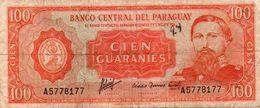 PARAGUAY 100 GUARANIES 1963 P-199 Circ. - Paraguay