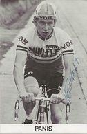 CARTE CYCLISME PANIS SIGNEE TEAM MINI FLAT 1979 - Wielrennen