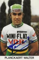 CARTE CYCLISME WALTER PLANCKAERT SIGNEE TEAM MINI FLAT 1979 - Wielrennen