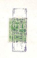FISCAUX  Acte Notarié Du 14 Mars 1918 Sarreguemines - Fiscaux