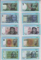 ISRAEL BANKNOTES RAMBAM MONTEFIORI GOLDA MEIR WEIZMANN THEODOR HERZL ALBERT EINSTEIN ZHABOTINSKY DAVID BEN GURION AGNON - Stamps & Coins